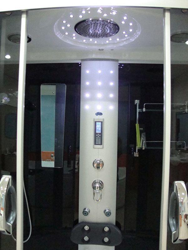 Cabina idromassaggio con vasca bagno turco a scelta e led vi - Cabina doccia con sauna e bagno turco ...