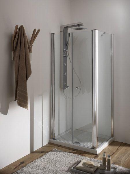 Porta doccia a nicchia apertura saloon a 2 ante fb - Porta doccia saloon ...