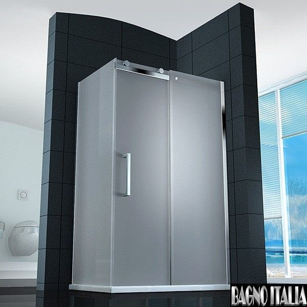 Box Doccia In Cristallo Satinato : Box doccia angolare vetro trasparente opaco bagno italia pa
