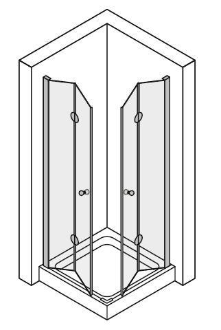Box doccia doppia apertura a libro soffietto cristallo 6 mm ...