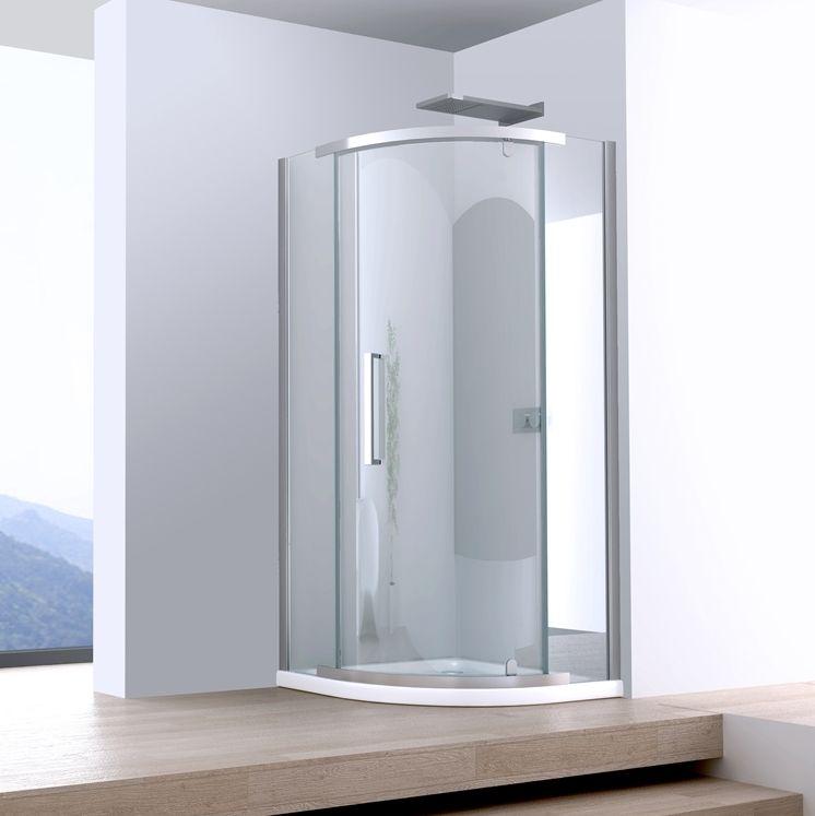 Box doccia semicircolare anta a battente pivot cristallo for Box doccia cristallo