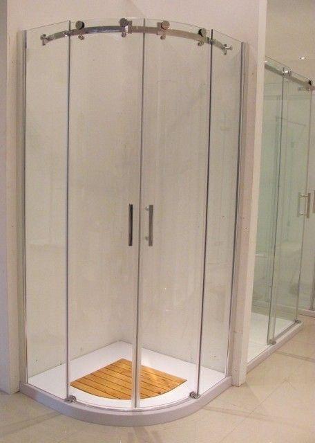 Box doccia semicircolare apertura scorrevole senza profili box048 - Box doccia senza telaio ...