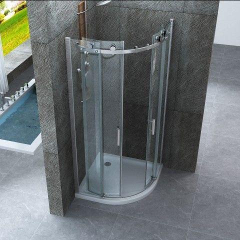 Box doccia semicircolare apertura scorrevole senza profili - Bagno italia it ...
