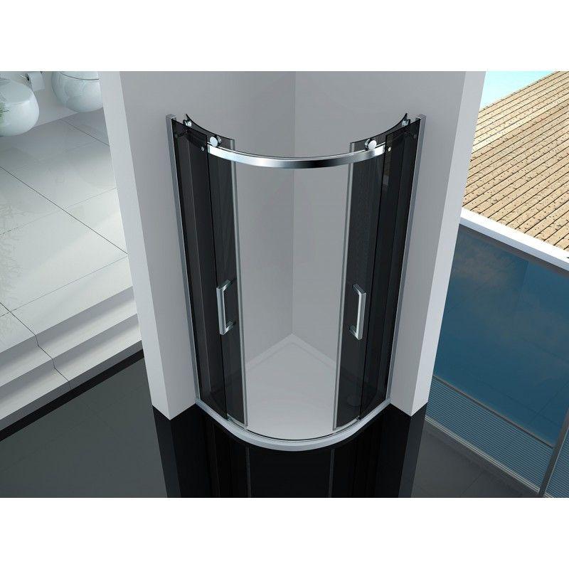 box doccia semicircolare 8mm cristallo trasparente opaco fum varie misure. Black Bedroom Furniture Sets. Home Design Ideas