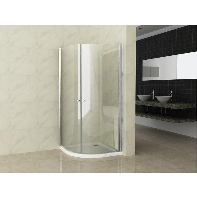 Box doccia semicircolare vetro trasparente 6mm apertura - Box bagno esterno ...