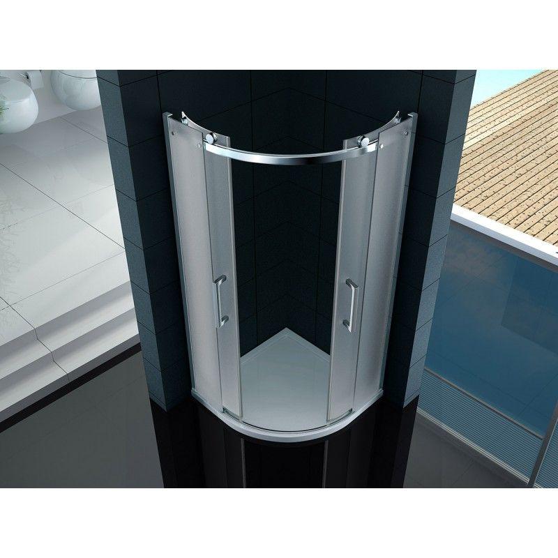 Box Doccia Cristallo Fumè : Box doccia semicircolare mm cristallo trasparente opaco