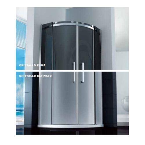 Box doccia semicircolare 8mm cristallo trasparente opaco fumé disp.in ...