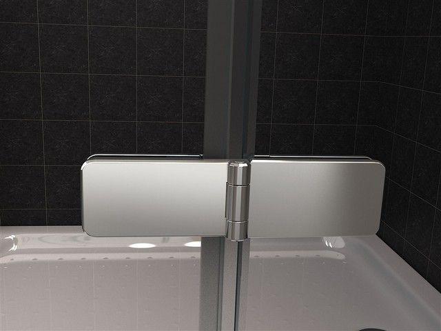 Box doccia in cristallo trasparente 8mm doppia apertura a battente vs esterno pa ebay - Siliconare box doccia interno o esterno ...