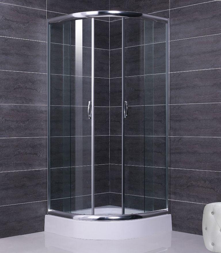 Box doccia semicircolare, vetro temperato trasparente/opaco pa
