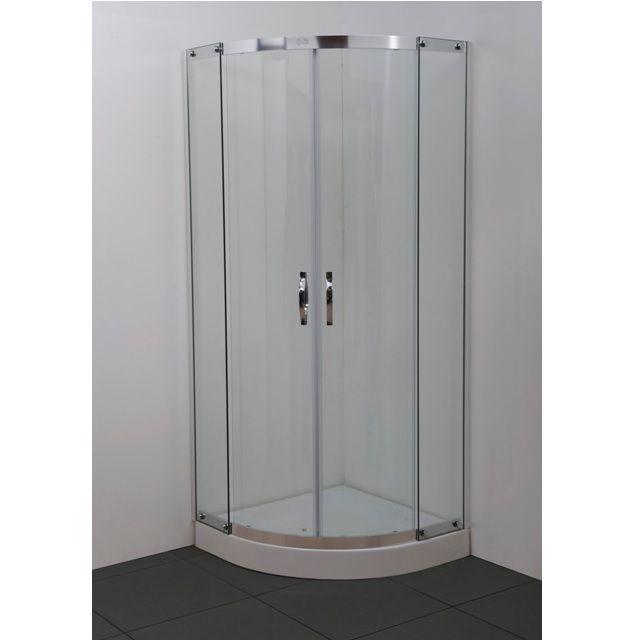 Box doccia semicircolare in cristallo 6mm apertura - Misure piatto doccia piccolo ...