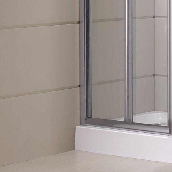 Box doccia con porta ad anta fissa, apertura a libro soffietto hd