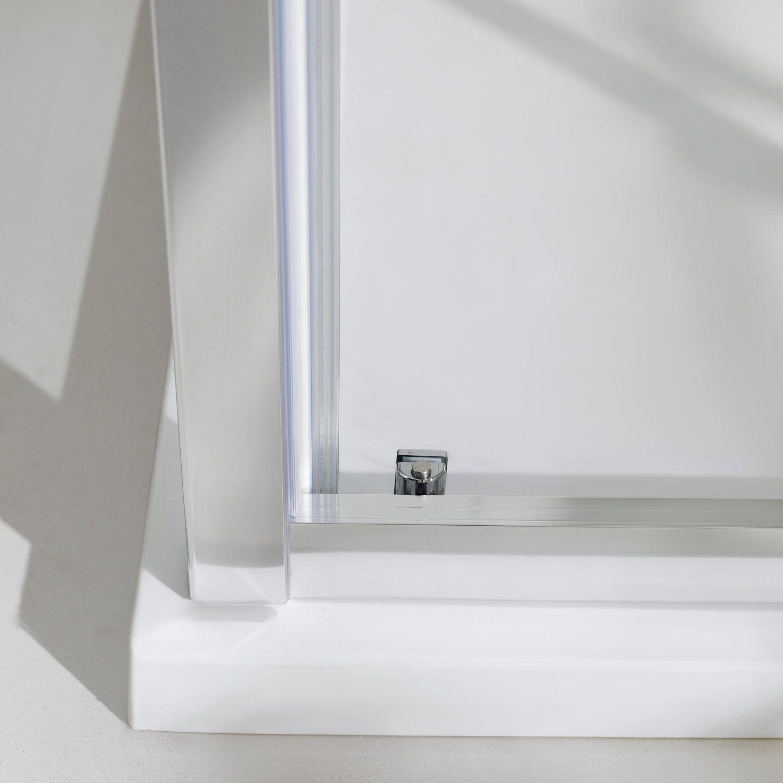 Box doccia porta fissa anta scorrevole h185 198 profilo in - Box doccia un anta ...