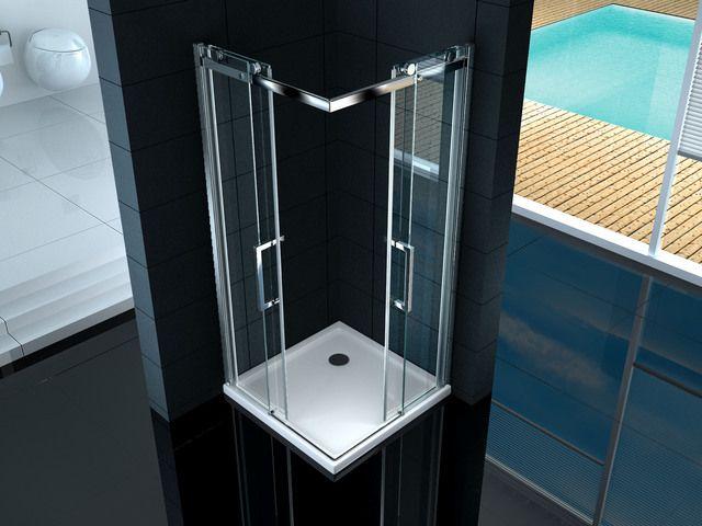 Box Doccia Cristallo Fumè : Box doccia angolare mm quadrato rettangolare altezza
