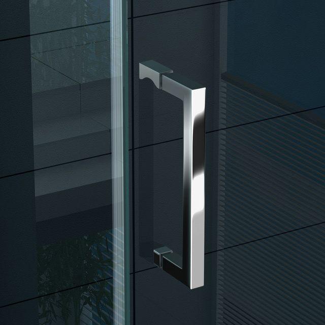 Box doccia angolare 8mm quadrato rettangolare altezza 190 - Altezza maniglia porta ...