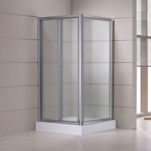 Box doccia con porta ad anta fissa apertura a libro - Porta doccia soffietto ...