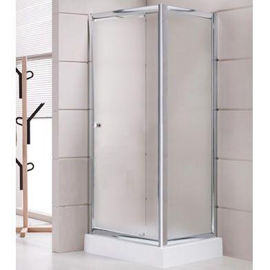 Box doccia con porta battente e anta fissa con altezza che - Ante per doccia ...
