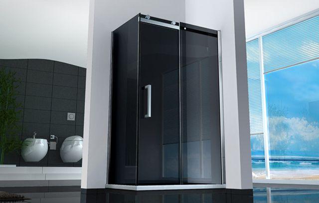 Box doccia quadrato o rettangolare porta scorrevole 8 mm cristallo ...