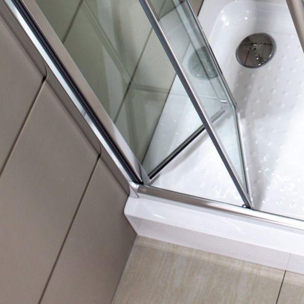 Porta doccia per nicchia apertura a soffietto o libro - Porta doccia pieghevole ...