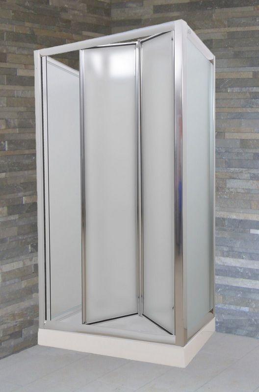 Box doccia con porta ad anta fissa apertura a libro - Box doccia libro ...