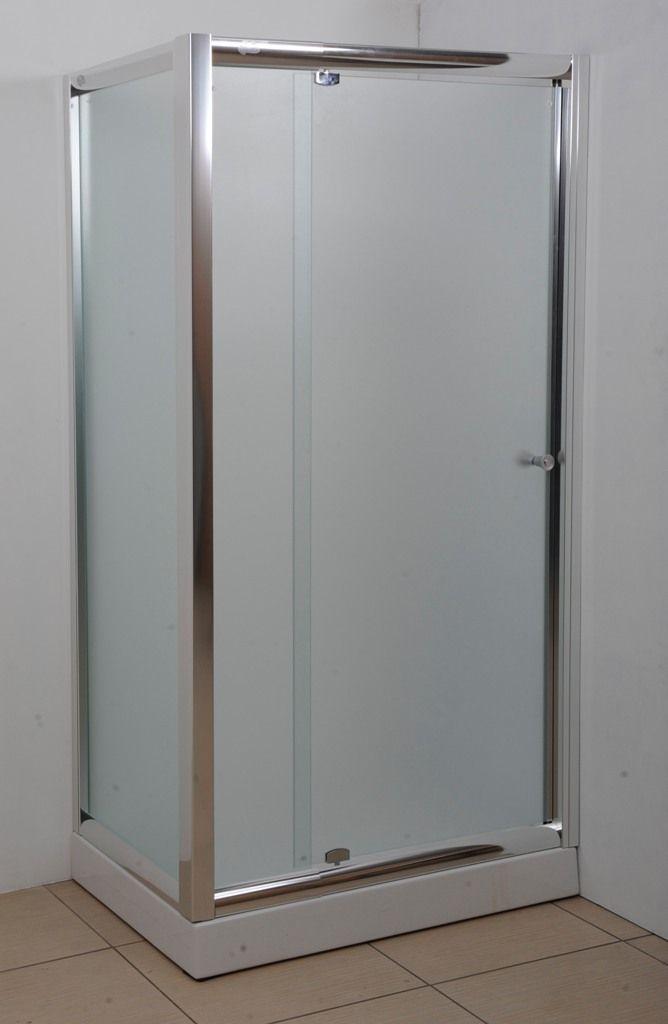 Box doccia con porta battente e anta fissa con altezza che va da 185 o 200 cm cristallo spesso - Ante per doccia ...