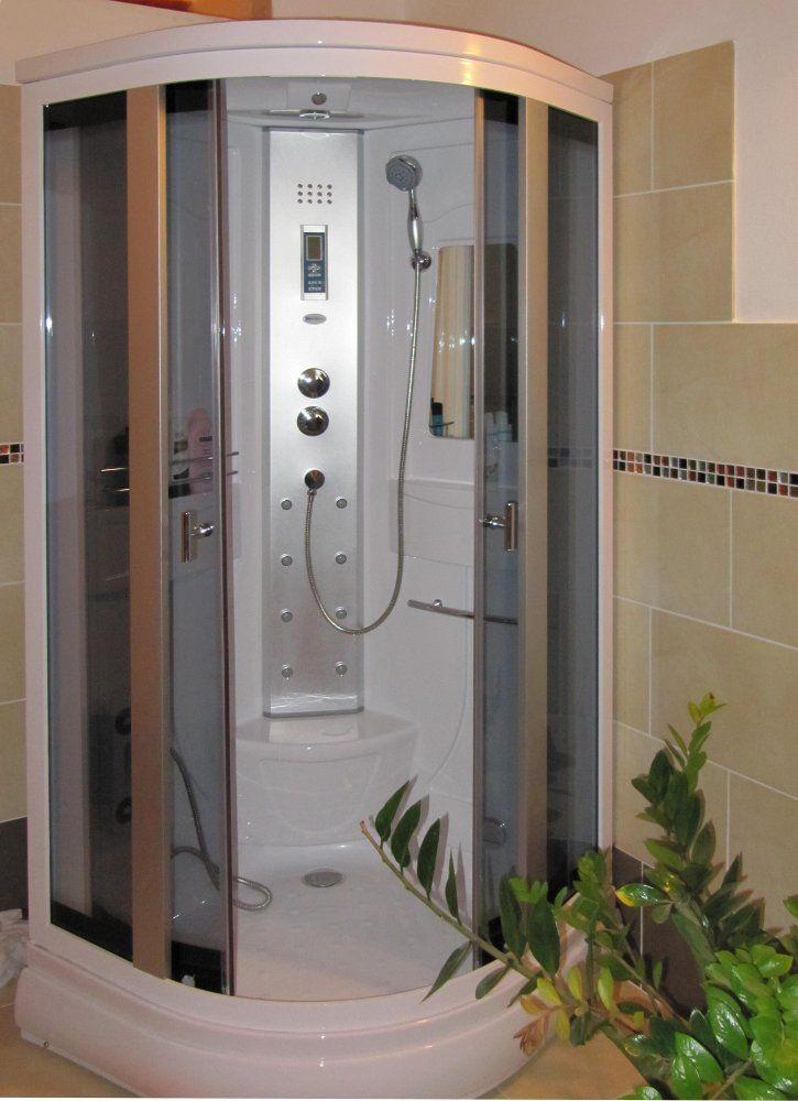 Box idromassaggio 90x90cm cabina cromoterapia e bagno turco vi - Colonna doccia bagno turco ...