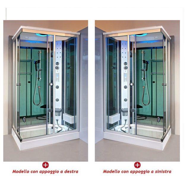 Box idromassaggio 120x80cm con cromoterapia vi - Cabina doccia bagno turco ...