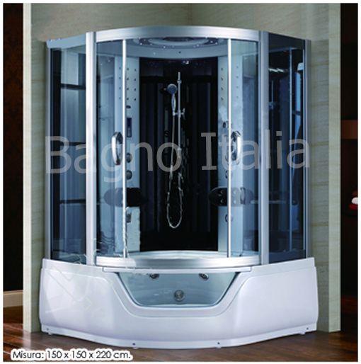 Cabina idromassaggio per due persone con vasca combinata - Vasca con cabina doccia prezzi ...