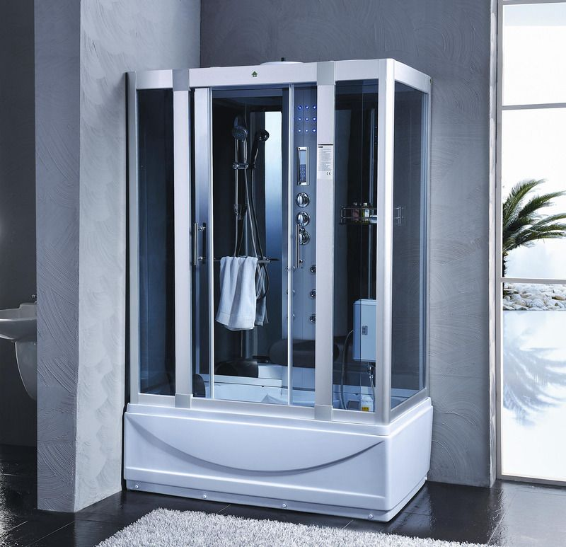 Cabina idromassaggio 135x80 6 idrogetti con vasca - Box doccia con sauna e bagno turco ...