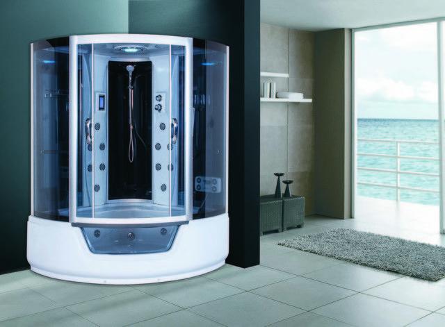 Box doccia idromassaggio 150x150x230h per due persone full for Box doccia con idromassaggio