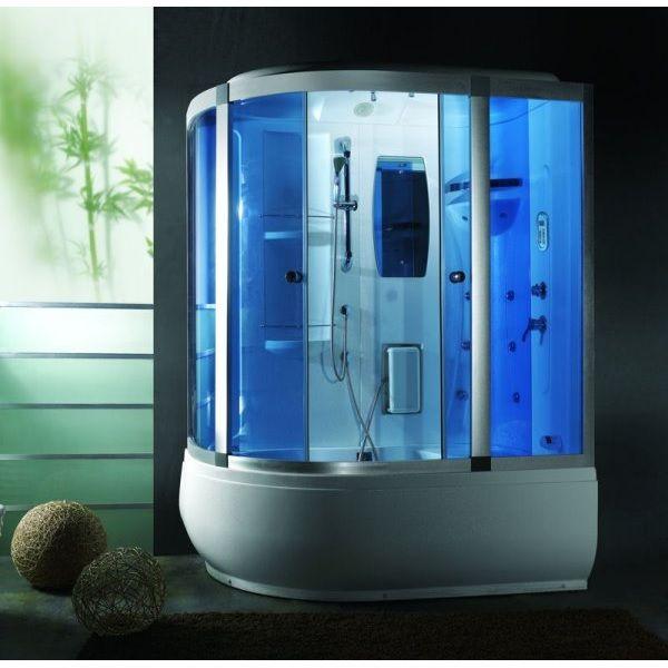 Cabina e vasca idromassaggio 165x100cm con cromoterapia vi for Box doccia con idromassaggio