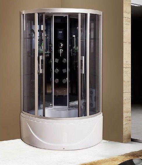 Box doccia idromassaggio 90x90 o 100x100 angolare con for Box doccia con idromassaggio