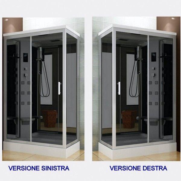 Cabina idromassaggio 6 getti 70x120 box doccia multifunzione con o senza sauna 4 ebay - Cabina doccia senza piatto ...