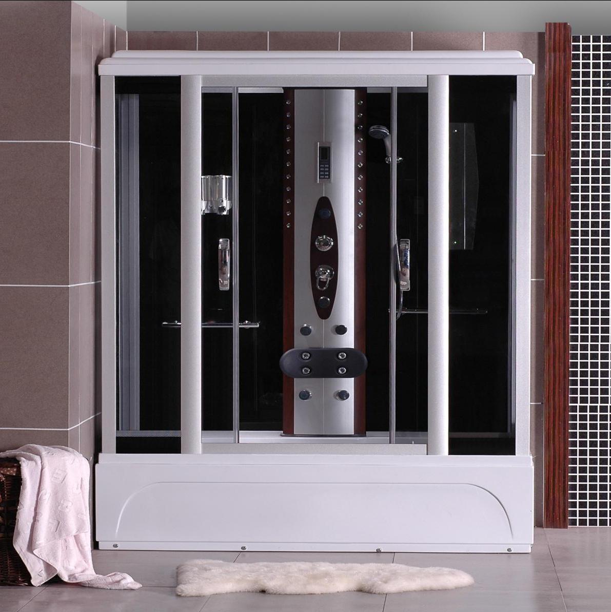 Cabina idromassaggio 150x85 con vasca 9 getti for Cabina con avvolgente portico