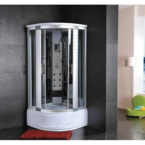 Cabina e vasca idromassaggio sauna 80x80 o 90x90 o 100x100 pd for Box doccia con idromassaggio