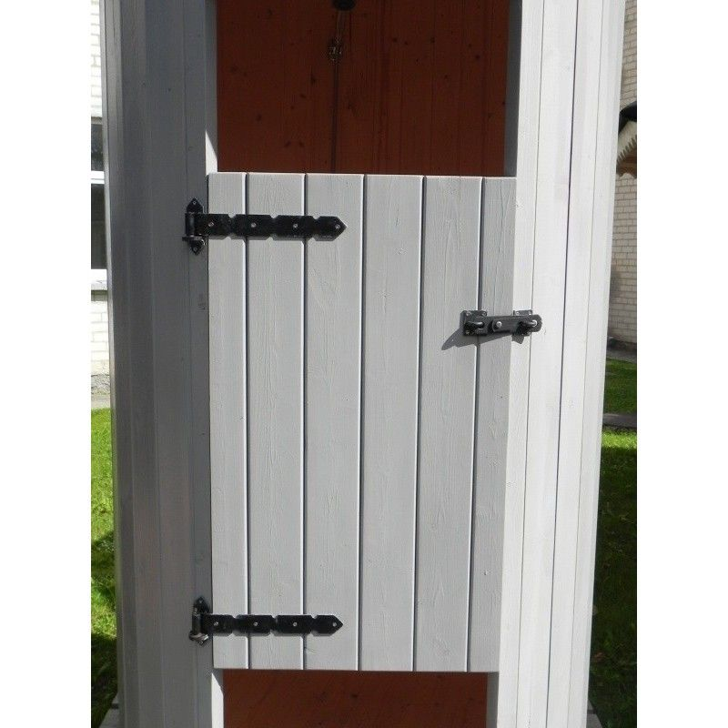 Cabina doccia da esterno 120xh290 cm in legno massiccio - Doccia da esterno ...
