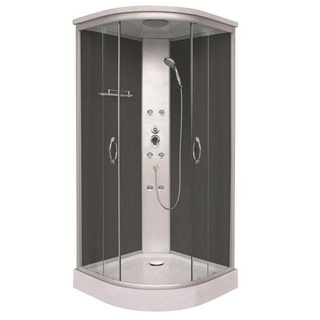 Cabina 90x90x210 con colonna centrale a 6 getti idromassaggio for Cabina doccia eklis montaggio