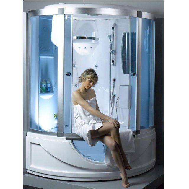 Cabina vasca idromassaggio 135x135 bagno turco sauna box for Box doccia con idromassaggio