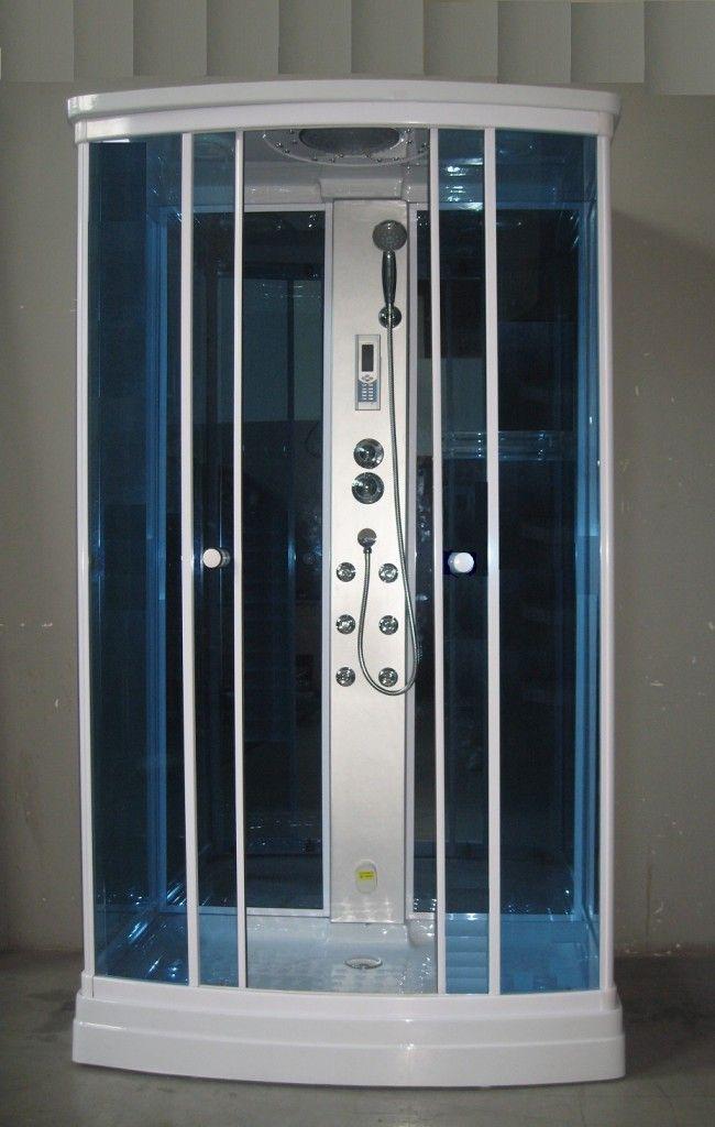 Box idromassaggio 120x80 sauna rettangolare radio - Bagno italia it ...