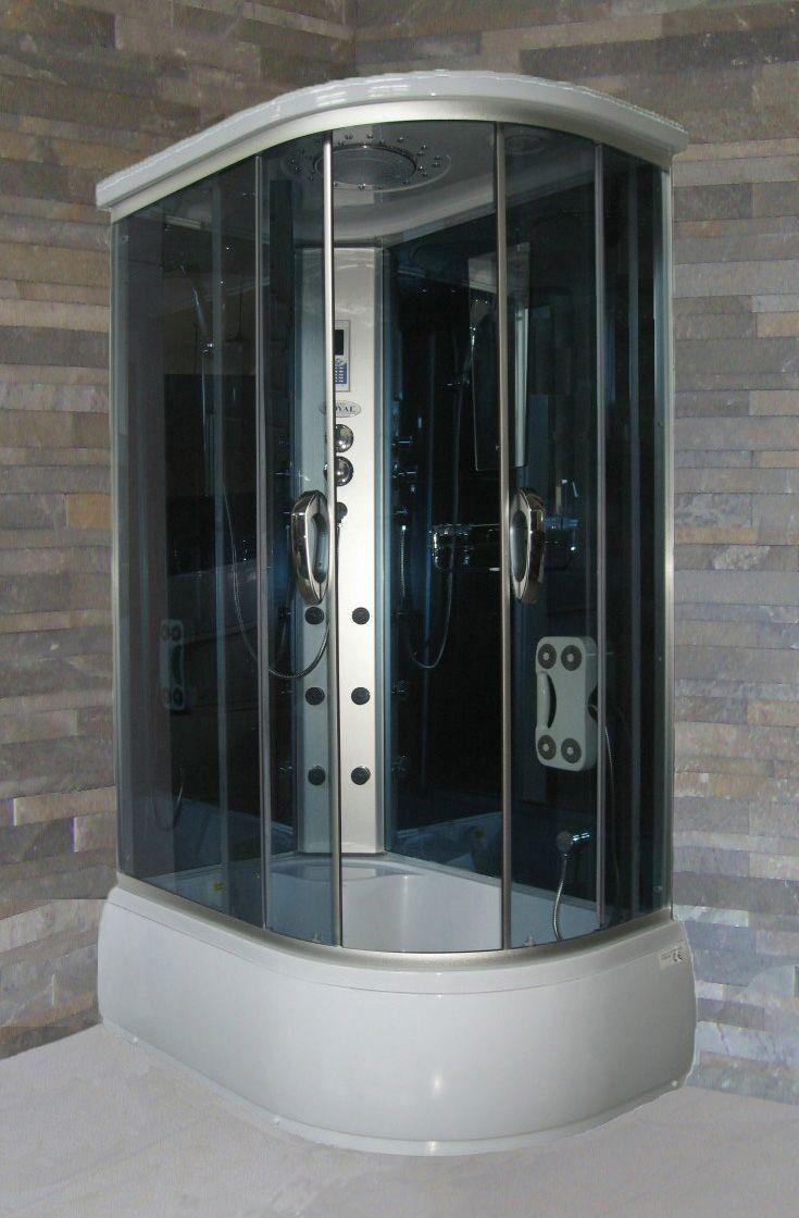 Cabina Multifunzione Sauna Bagno Turco.Dettagli Su Cabina E Vasca Idromassaggio Multifunzione 120x80 Massaggio Box Doccia Per Bagno