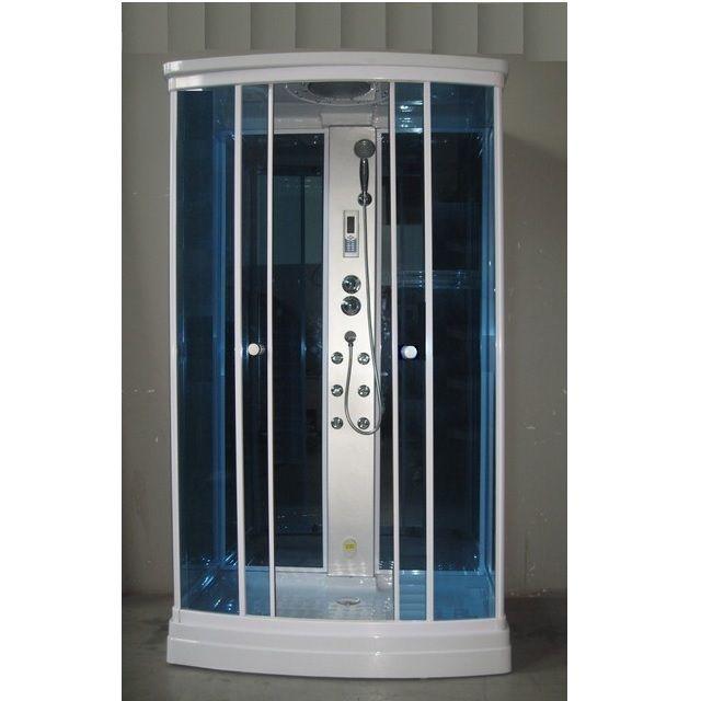 Cabina Idromassaggio : Cabina idromassaggio 120x80 con bagno turco piatto basso e colonna doccia ...