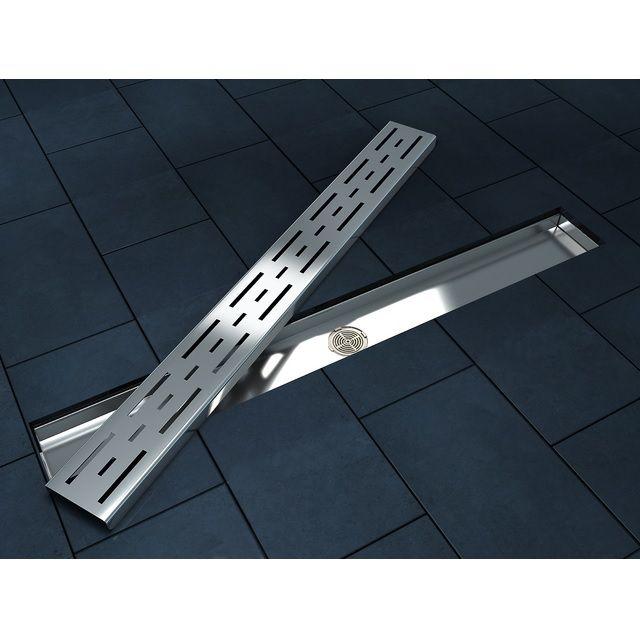 Canalina di scarico a terra con griglia in acciaio inox go - Piatto doccia piastrellabile ...