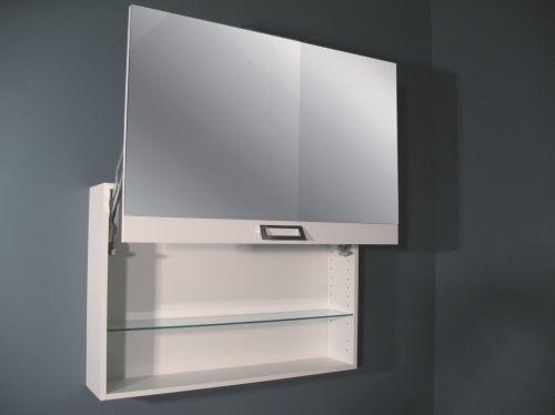 Specchio contenitore da bagno modello square vari colori bb for Specchio contenitore bagno