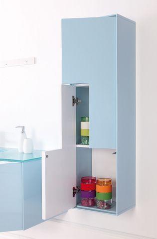 Arredo bagno bcolor 90 cm lavabo in cristallo con 2 cassetti specchiera e colonna opzionale - Colonna bagno mercatone uno ...