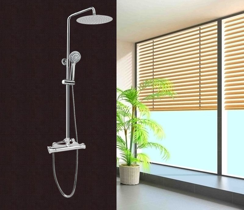Colonna doccia saliscendi multifunzione con soffione for Altezza miscelatore doccia