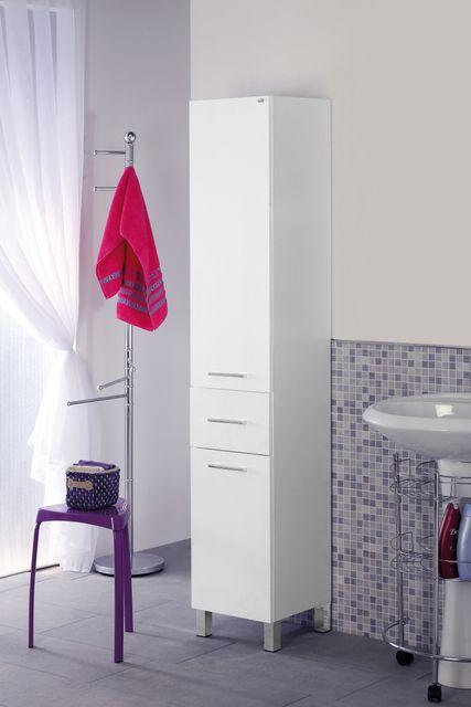 Colonna singola alta 33x180x33 prof o 45x180x33prof rovere o bianca - Mobile porta asciugamani ...
