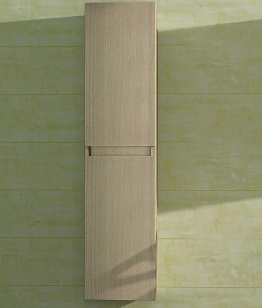 colonna da bagno più misure in tre colori rovere a 2 ante per ... - Mobili A Colonna Da Bagno