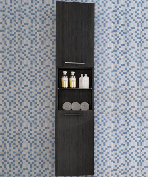 colonna da bagno di diverse misure con due colori e doppia anta ... - Mobili A Colonna Da Bagno