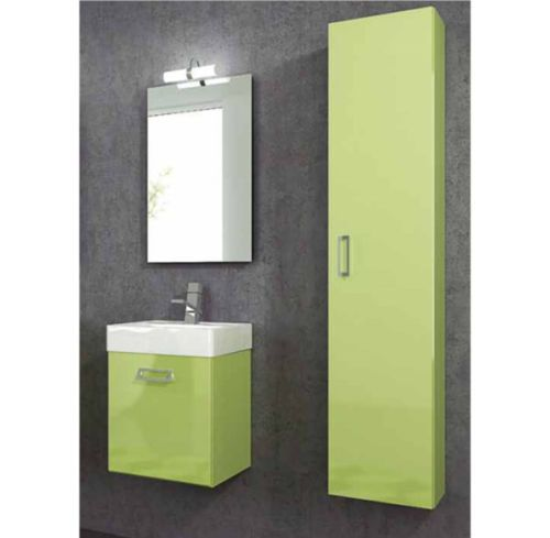 Mobile bagno moderno quad disponibile in 20 colori bb - Colori bagno moderno ...