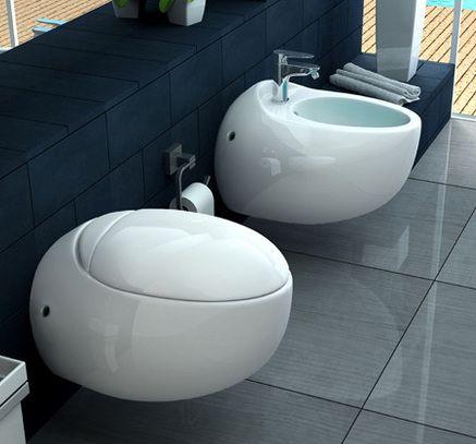 Sanitari bagno moderni in ceramica bianchi sospesi go - Sanitari per bagno prezzi ...