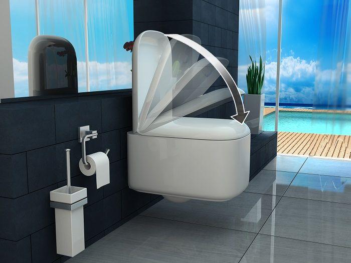 Coppia di sanitari modello star tipo sospeso quadrati for Tazza del bagno